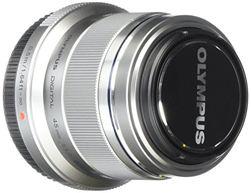 Olympus M. Zuiko Digital ED 45mm f1.8 (Silver) Lens for Olympus and Panasonic Micro 4/3 Cameras (Olympus 45 Hood compare prices)