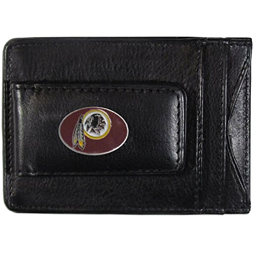 NFL Washington Redskins Leather Money Clip Cardholder - Washington Redskins Holder