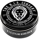 Beard Balm Leave-in Conditioner with Natural Bees Wax, Jojoba & Argan Oil - Styles, Softens, Strengthens & Thickens for Healthier Beard Growth & Mustache - 2 oz - The B.I.G. Company