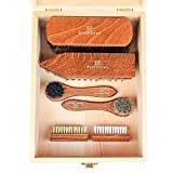 FootFitter 8 Piece Brush Set in Valet Box! - Complete Set of Shoe Shine Brushes!