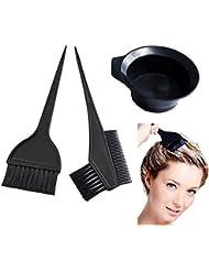 ATB 3 Pcs Salon Hair Coloring Dyeing Kit Color Dye Brush Comb Mixing Bowl Tint Tool Bleach