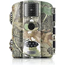 Trail Camera Vizzlema 12MP Wildlife Hunting Camera Game Camera Motion Activated 65ft Long Range No Glow Infrared Night Version with 2.4in LCD Screen Waterproof IP65