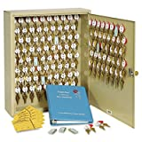Locking Two-Tag Cabinet, 120-Key, Welded Steel, Sand, 16 1/2 x 4 7/8 x 20 1/8, Sold as 1 Each