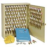 120 key cabinet - SteelMaster Locking Two-Tag Cabinet, 120-Key, Welded Steel, Sand, 16 1/2 x 4 7/8 x 20 1/8