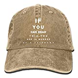 If You Can Read This You are in Danger A Takedown Low Profile Plain Baseball Hat Dad Cap Outdoor Hats