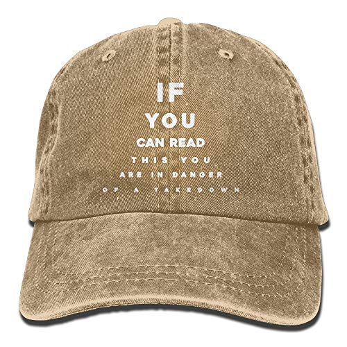 If You Can Read This You are in Danger A Takedown Low Profile Plain Baseball Hat Dad Cap Outdoor Hats by NUVICAP