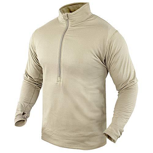 CONDOR Outdoor BASE II Zip Pullover (Large, Sand)