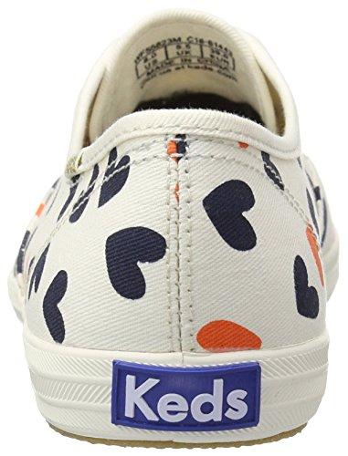 Keds Womens Champion Heart Fashion Sneaker Cream / Multi