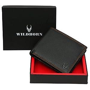 WildHorn Wildhorn India Black Men's Wallet (WH2010 Black Nappa)