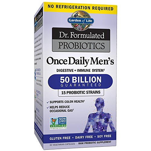 Garden of Life Probiotics Supplement for Men - Dr. Formulated Once Daily Men's for Digestive and Gut Health, Shelf Stable, 30 (Mens Health Formula)