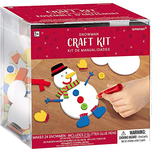 Amscan 3900450 craft kit, Creates 24 Foam Snowmen (4 1/2