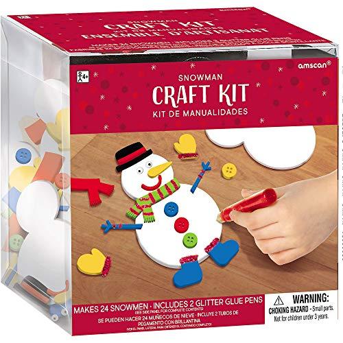 Amscan 3900450 craft kit, Creates 24 Foam Snowmen (4 1/2