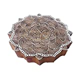 8 Inch Classy Large Print Block Line Round Design Big Wood Stamp