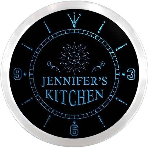 ncx2006-tm Jennifer's Kitchen Sun Custom Name Neon Sign (Jennifer Clock)