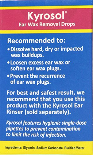 Squip Kyrosol-Ear Wax Removal Drops Refill, 20 Ounce