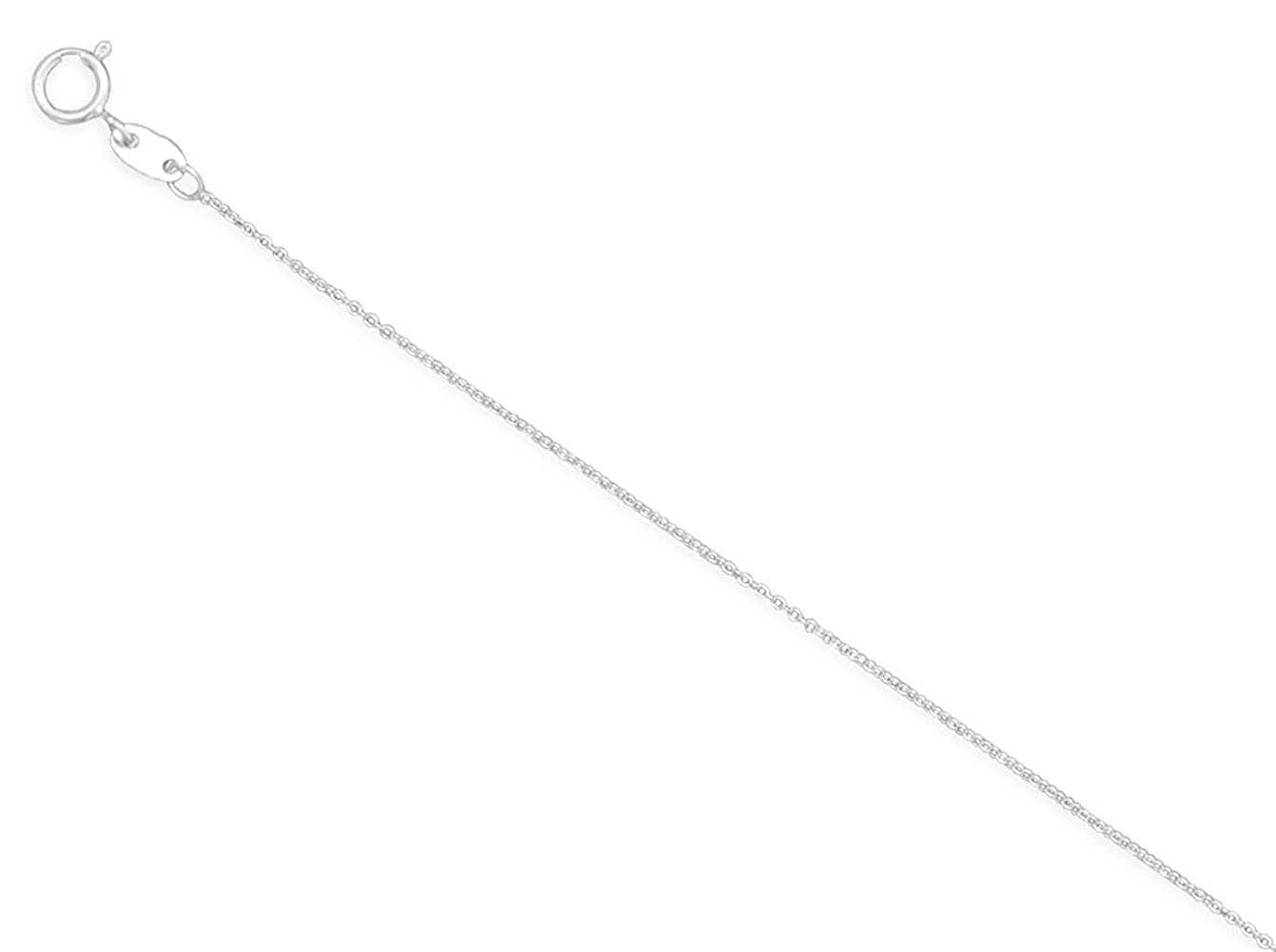 0.6mm 020 Gage Sterling Silver Open Cable Italian Chain Necklace