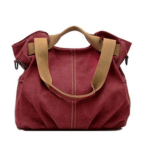 YZSKY Leisure Canvas Travel Top Handle Bag Tote Handbags Shoulder Bag With Removable Adjustable Strap
