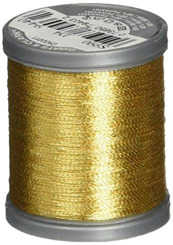 Coats: Thread & Zippers Metallic Thread, 125-Yard, Gold