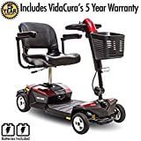 Pride Go-Go LX CTS Suspension 4-Wheel Scooter 12AH Battery Including 5 Year Extended Warranty