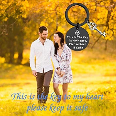 TIIMG Couple Gift Valentines Gift Gift for Boyfriend Girlfriend Gift This is The Key to Heart Please Keep It Safe Gift
