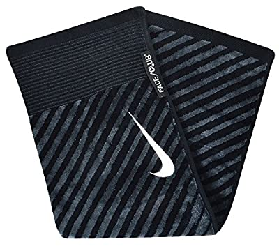 Nike Golf- Face/Club Jacquard Towel Black/Gray N87451