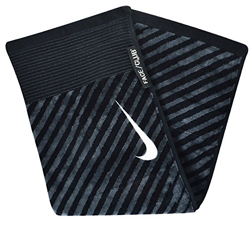 Golf Nike Towel Jacquard - Nike Golf- Face/Club Jacquard Towel Black/Gray N87451