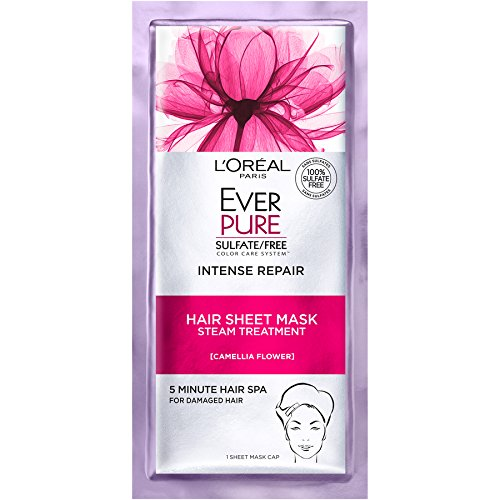 L'Oreal Paris Hair Care Ever-Pure Intense Repair Hair Sheet Mask, 1 Count