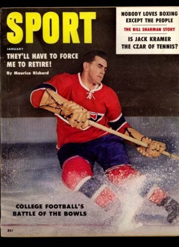 "Books : Sport Magazine January 1959 (Maurice ""The Rocket"" Richard Montreal Canadians cover)"