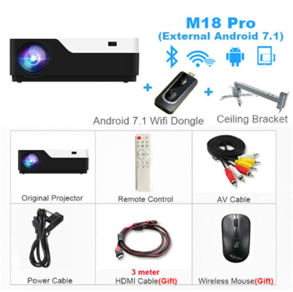 OSB STYLE 1920X1080 Real Full HD Projector, HDMI USB PC 1080p LED ...