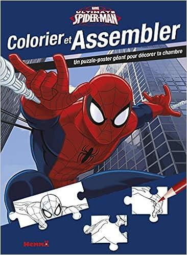 Colorier Et Assembler Marvel Ultimate Spider Man 9782508037320