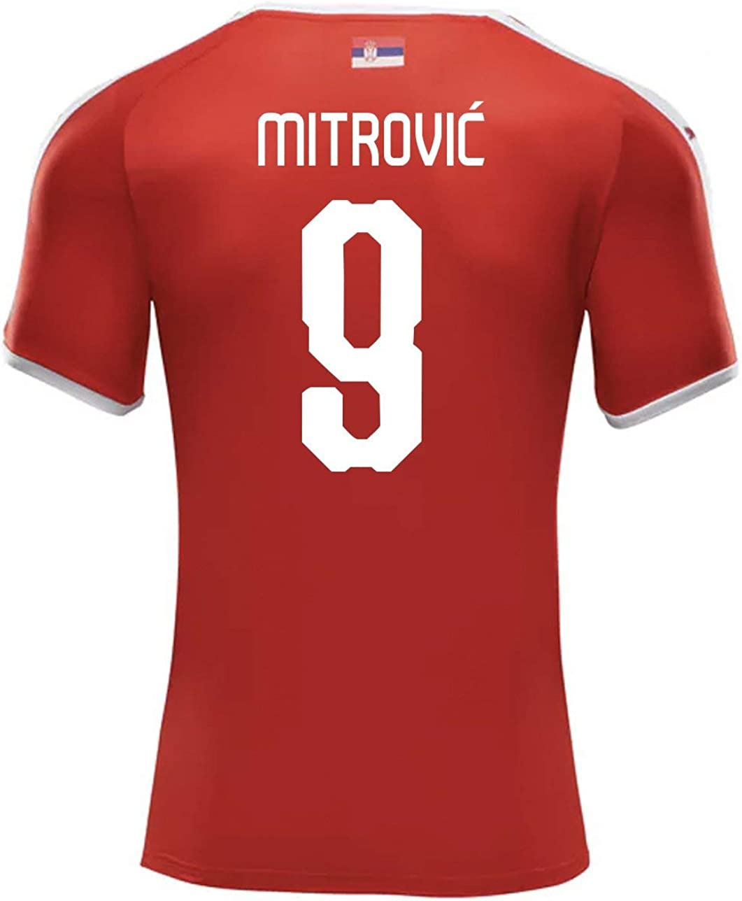 PUMA MITROVIC #9 Serbia Men's Home Jersey World Cup Russia 2018