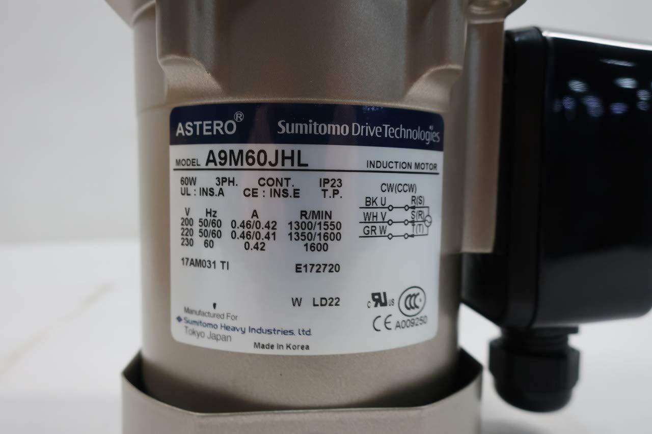 Amazon com: SUMITOMO A9M60JHL ASTERO Induction Motor 3PH 60W