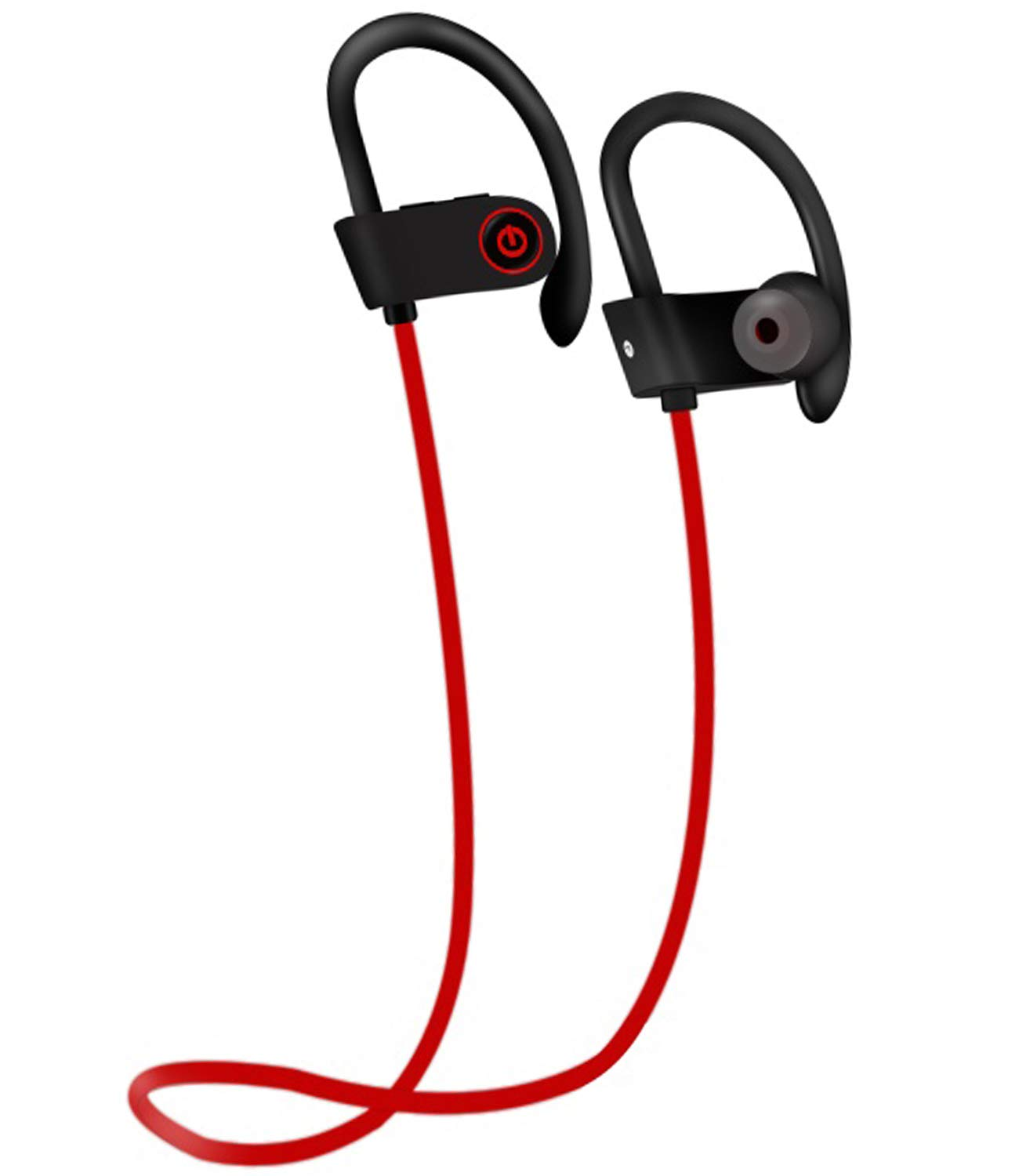 Bluetooth Headphones, IPX7 Waterproof Wireless Earbuds with Ear Hooks & Mic, HD Stereo in-Ear Sports Earphones Gym Running Workout, 7 Hours Battery Noise Isolating Headsets