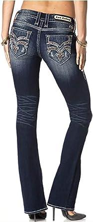 Amazon Com Rock Revival Pantalones Vaqueros Para Mujer Con Corte De Botas 28 28 Clothing