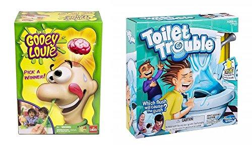 バスルームユーモアキッズボードゲーム2パック – Gooey Louie、トイレトラブル B07F8CLFS9
