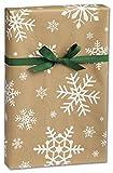 Gift Wrap Kraft Snowday (24 inch x 417 feet)