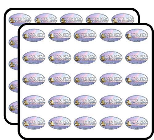 Oval Siesta Key Florida (fl Gulf Beach Coast) Sticker for Scrapbooking, Calendars, Arts, Kids DIY Crafts, Album, Bullet Journals