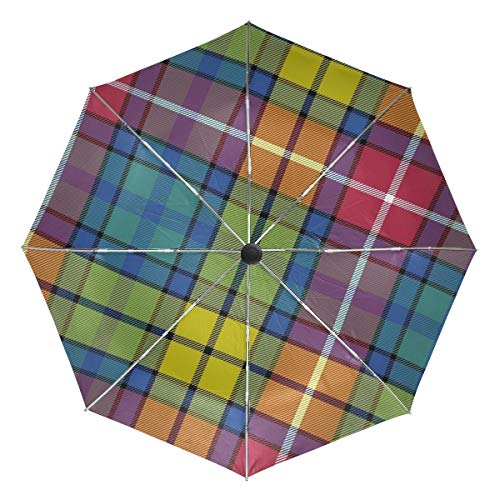 Buchanan Ancient Tartan Compact Travel Umbrella - Windproof, Reinforced Canopy, Ergonomic Handle, Auto Open