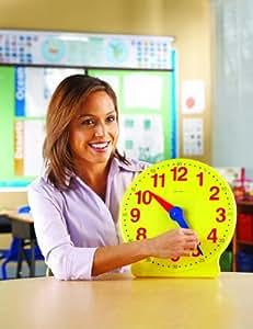 Learning Resources Big Time 12 horas reloj de demostración, Garden, césped, Mantenimiento