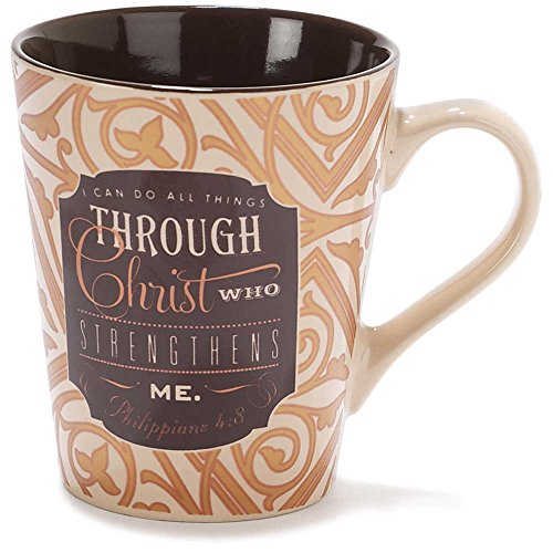 - Can Do all Things Through Christ Filigree 11 Ounce Metallic Stoneware Coffee Mug