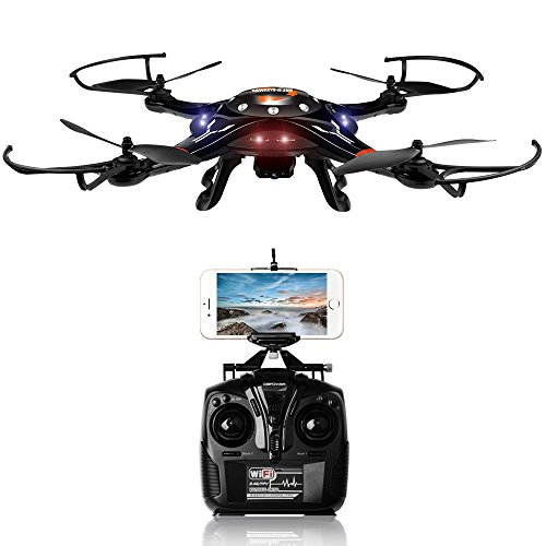 DBPOWER FPV Drone Wi-Fi Motion-Sensing Control Quadcopter with One Key Taking-off & Landing Function & 720P HD Camera made our list of Unique Camping Gifts For Men