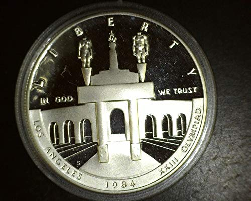 1984 S Olympic Proof Silver Dollar Commemorative $1 PROOF US Mint ()