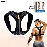iWEAR Back Posture Corrector for Women and Men   Posture Trainer Back Brace for Clavicle Support & Back Straightener   Shoulder Support for Kyphosis, Scoliosis, Pain Relief & Neck Hump