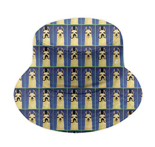 Adult Men's Fishermen Hat Boonie Hat, Fun Llama with Mustache Sun Cap Trucker Cap, Fitted Packable Reversible Summer Beach Garden Hat Ball Cap Running Cap|Sun Protective]()