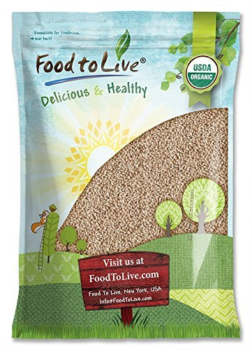 Organic Hulled Barley by Food to Live (Non-GMO, Bulk Grain, Product of the USA) — 20 Pounds