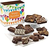 Fairytale Brownies Birthday Medley Gourmet Food Gift Basket Chocolate Box – Full-Size, Snack-Size and Bite-Size Brownies – 21 Pieces