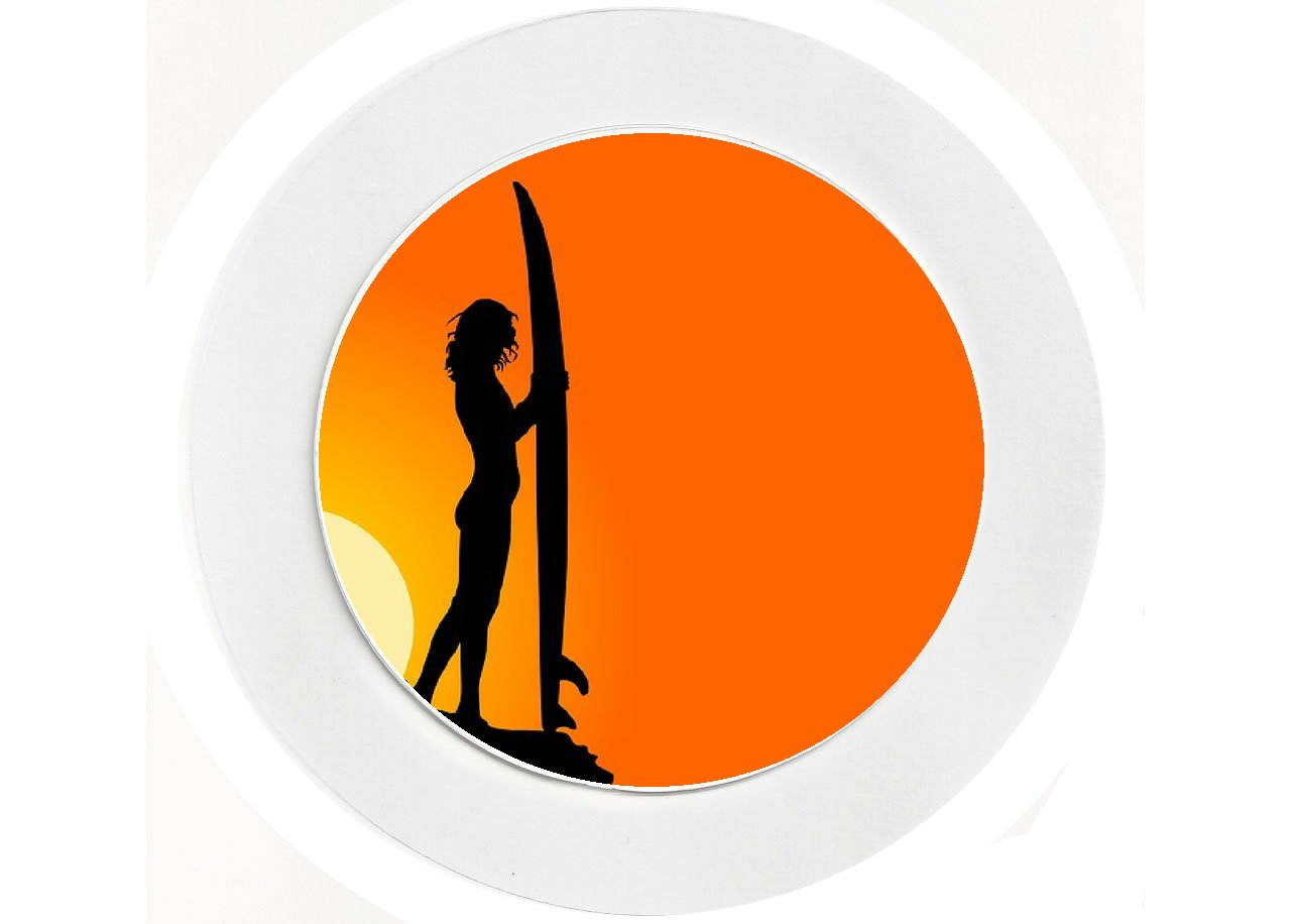 Surf / Surfer Babe - Fun - Car Tax Disc Holder - Reuseable Baked Bean Store