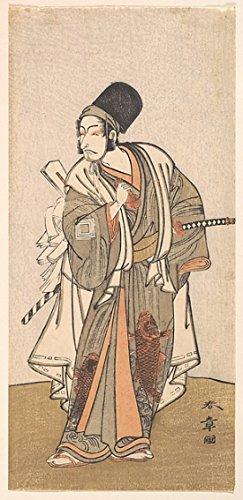 "Standing figure of an actor of the Ichikawa family probably Danjuro IV Poster Print by Katsukawa Shunsho (Japanese 1726 ""1792) (18 x 24)"