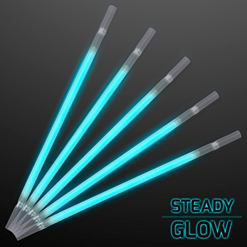 Aqua Glow Stick Drinking Straws (Set of 25) for $<!--$19.99-->