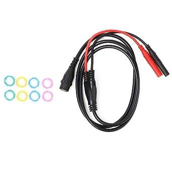 P1206 BNC Macho Macho a Recto Banana Plug Cable Coaxial Osciloscopio Cable de Prueba 100cm Seguridad: Amazon.es: Industria, empresas y ciencia